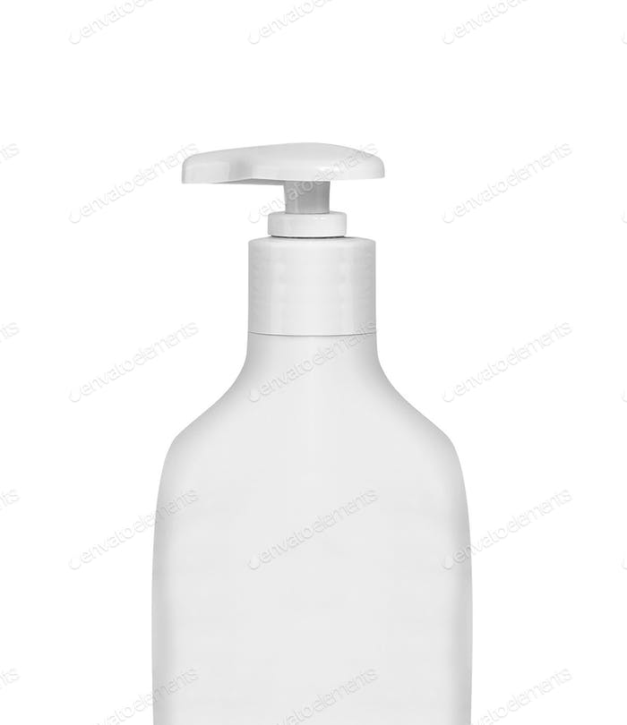 Gel, Foam Or Liquid Soap Dispenser Pump Plastic Bottle White isolated
