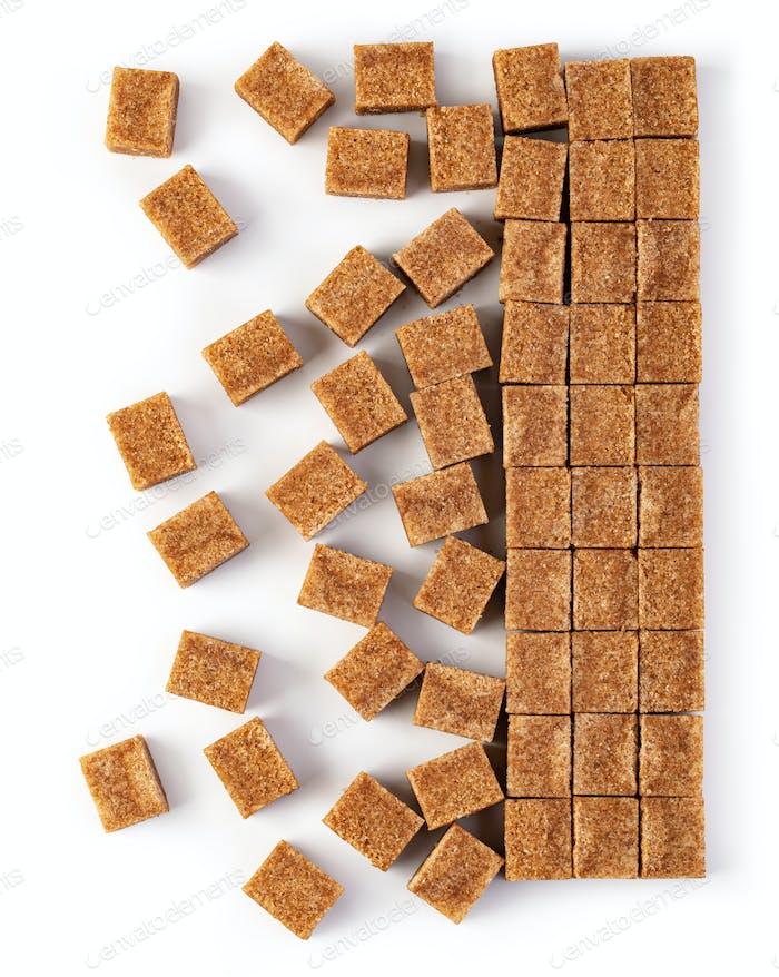 Zuckerwürfel Hintergrund