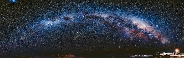 Milky Way in Antarctica. Vernadsky Station