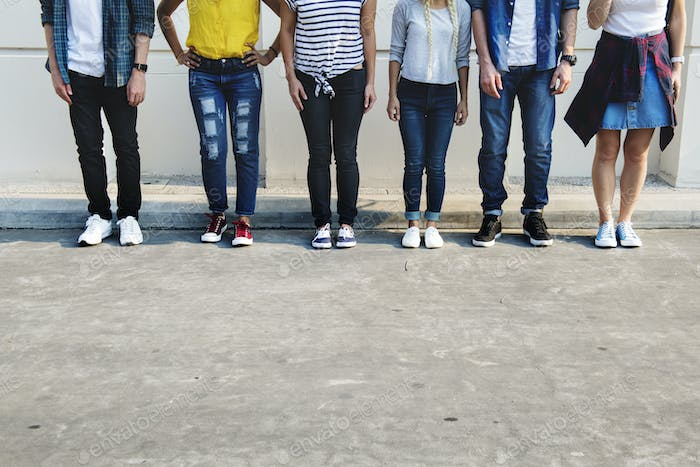 Young adult friends youth culture concept