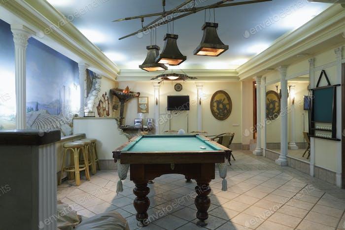 Billiard Table in a Lounge