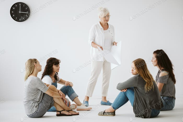 Teenagers at the therapy