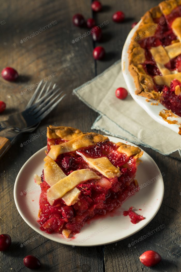 Sweet Homemade Cranberry and pear Pie