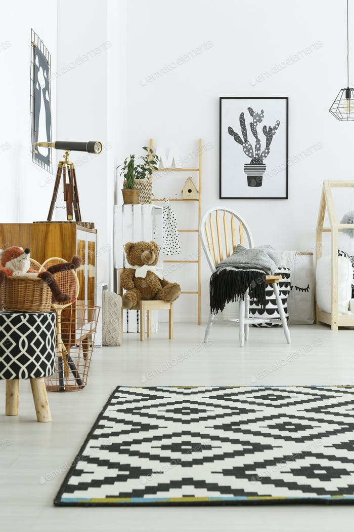 Scandi style in room