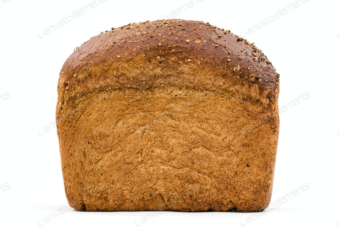Bread with appetizing crunchy crust, isolated on white backgroun