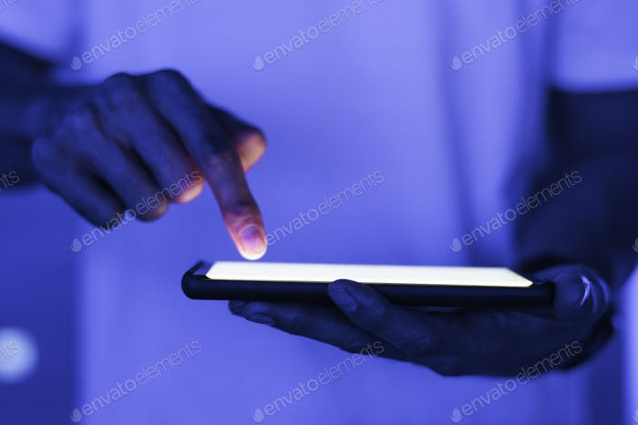 Blank smartphone screen with design space