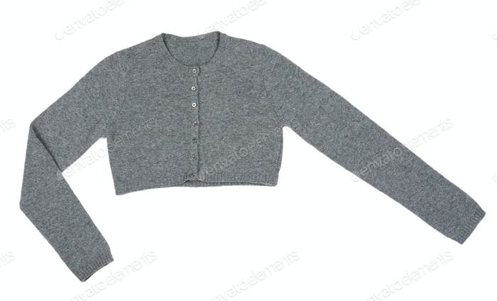 Grey knitted boleros