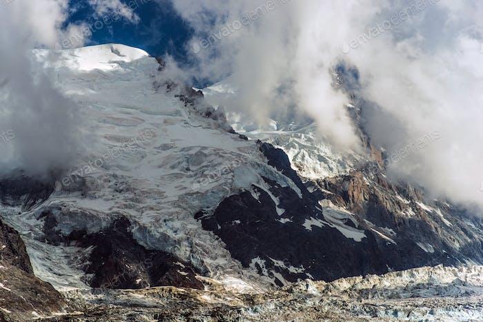 Glaciers alpins Mont Blanc