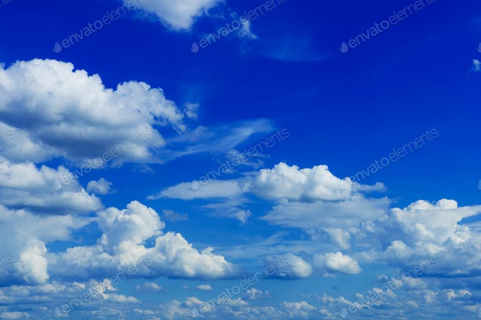 Summer Cloudy Blue Sky