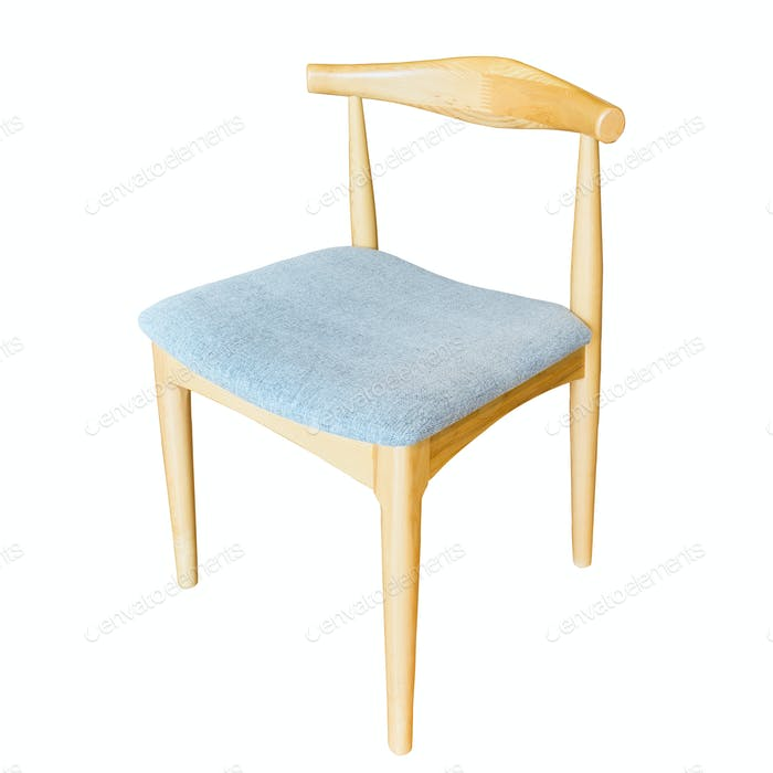 modern wooden chair isolated