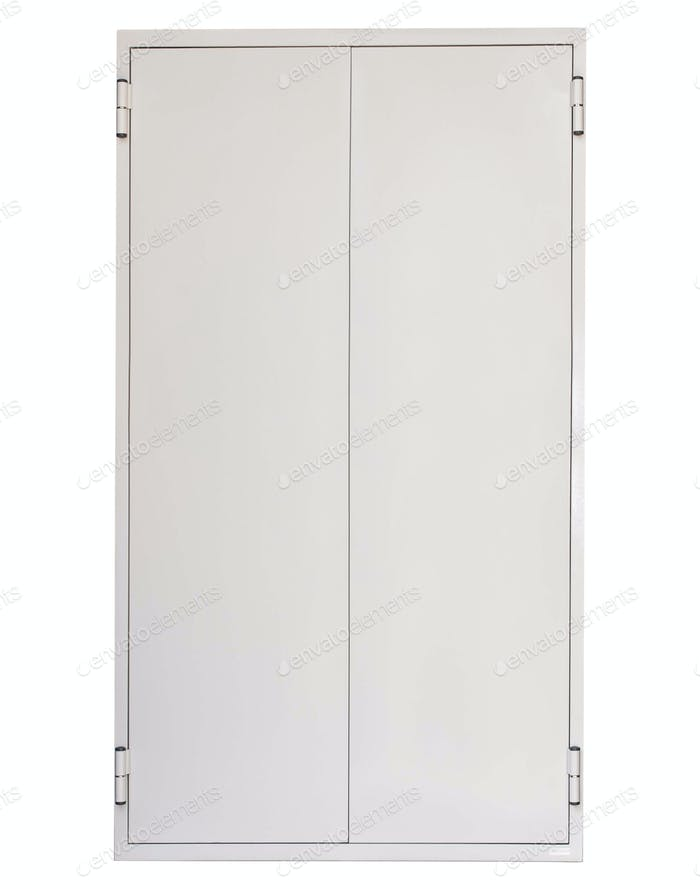 metal doors isolated on white
