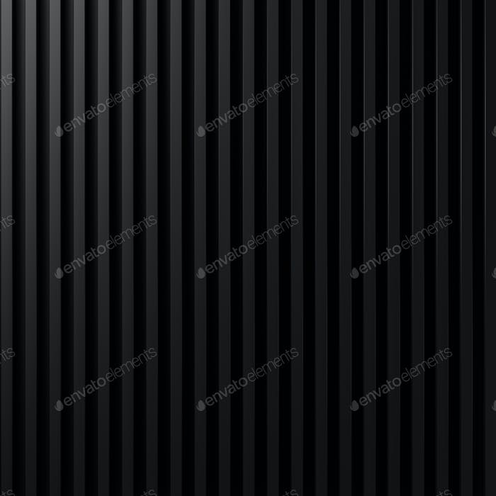 Black abstract background 3D rendering