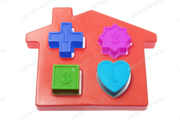 Plastic Toy House with Shapes
