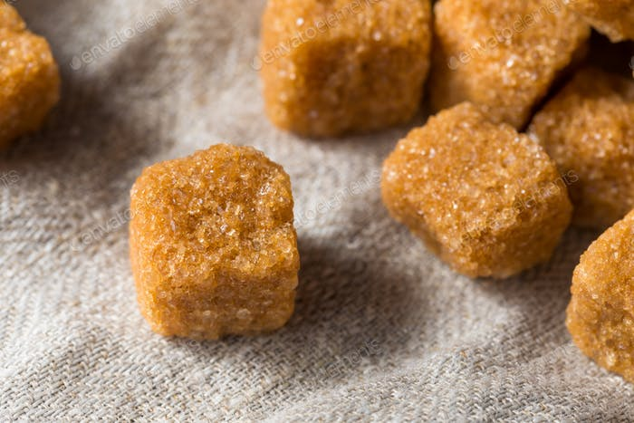 Raw Organic Brown Sugar Cubes
