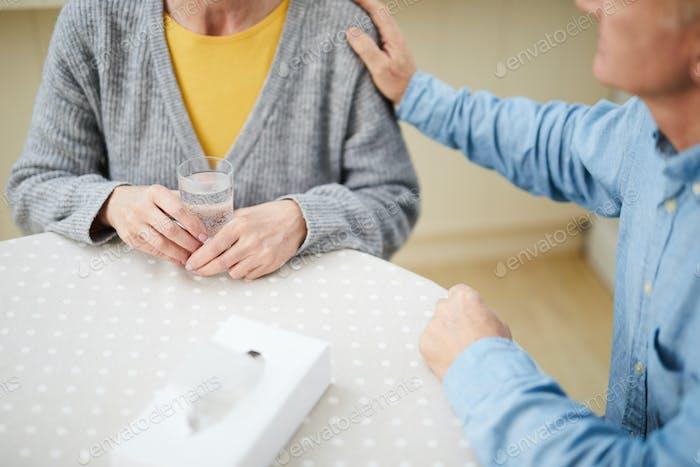 Comforting wife