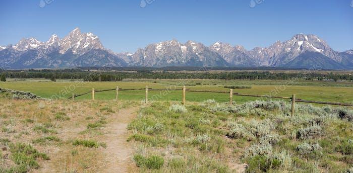 Rocky Mountains Grand Tetons Mount Moran Rural Wyoming