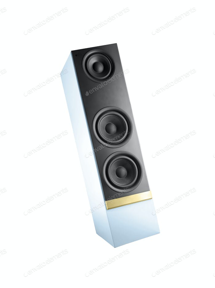 Big speaker isolated on white background