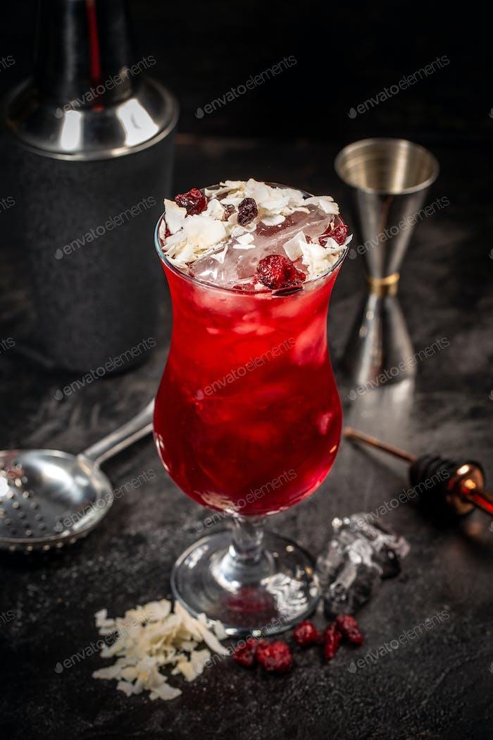 Rotes Cocktailgetränk