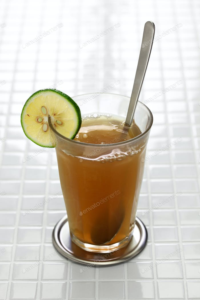 emoliente, traditional peruvian healthy drink