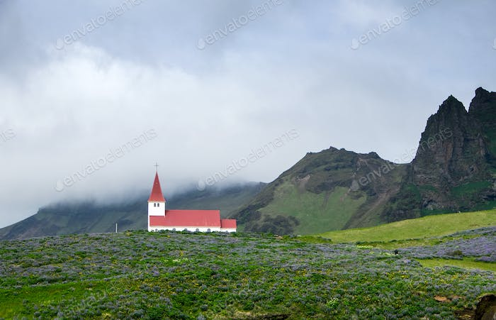 The church of Vik in Iceland