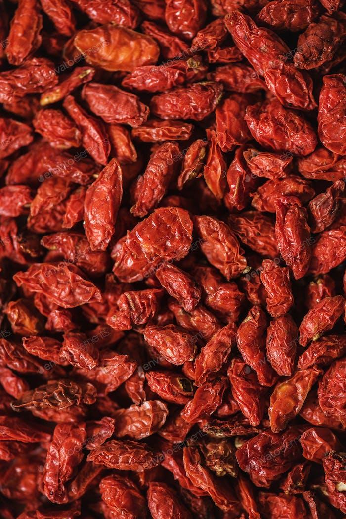 Closeup of goji berries
