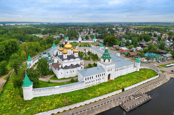 Aerial view of Ipatiev Monastery in Kostroma