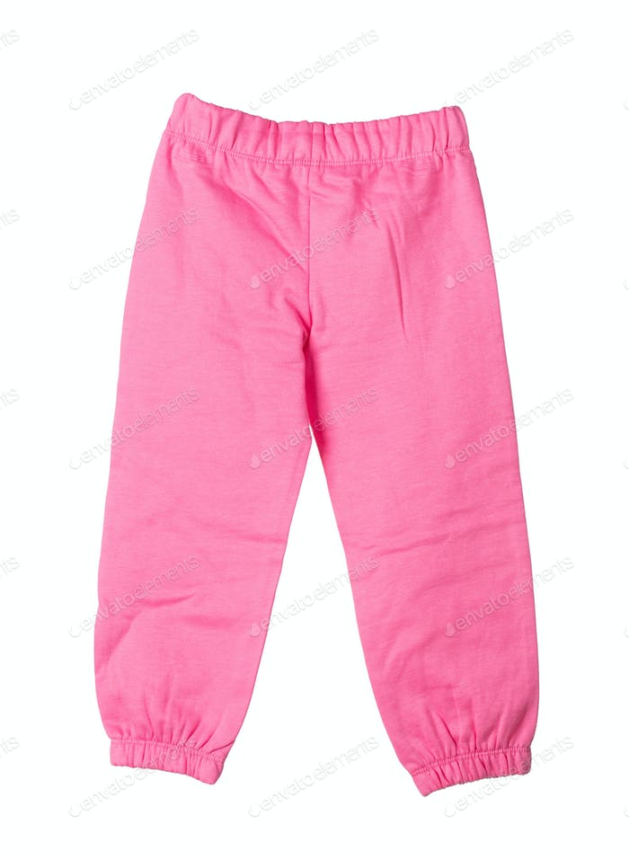 Childrens kntted trousers.