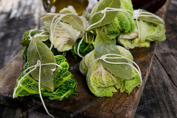 Bundle Of Meat In Cabbage Leaves