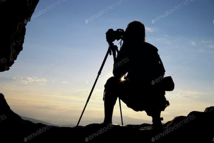 Silhouette des Fotografen