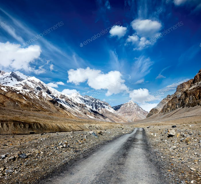 Road in Himalayas