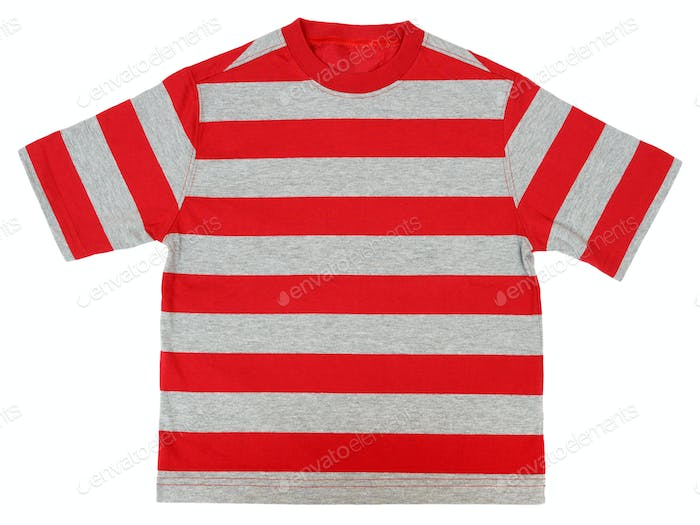 Striped T-shirt isolated on white background