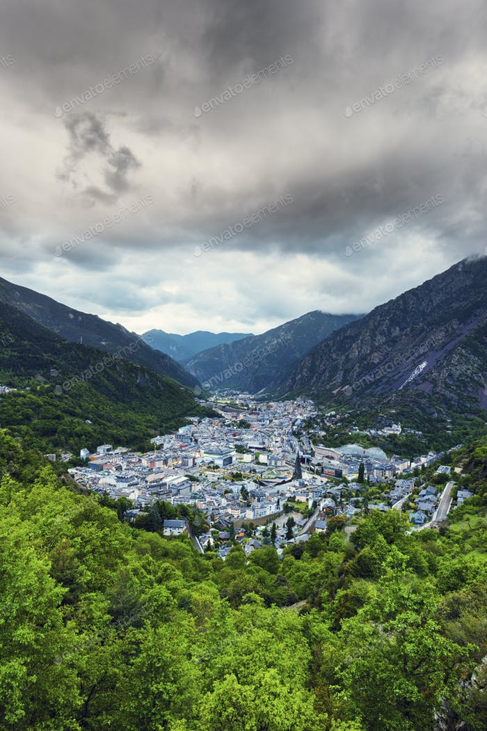 Cloudy day in Andorra la Vella