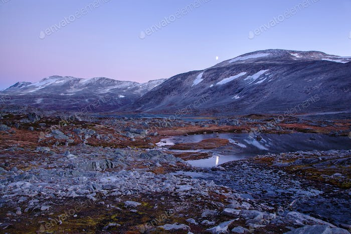 landscape at Gamle Strynefjellsvegen, National tourist road, Nor