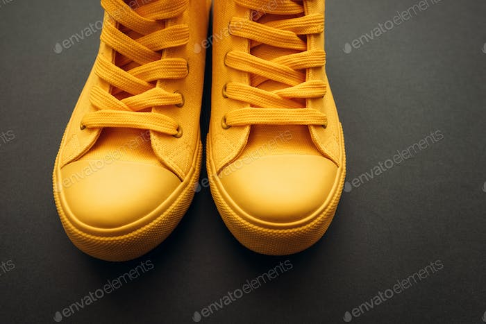 Stylish yellow sneakers