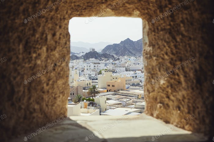 Muscat city from fort