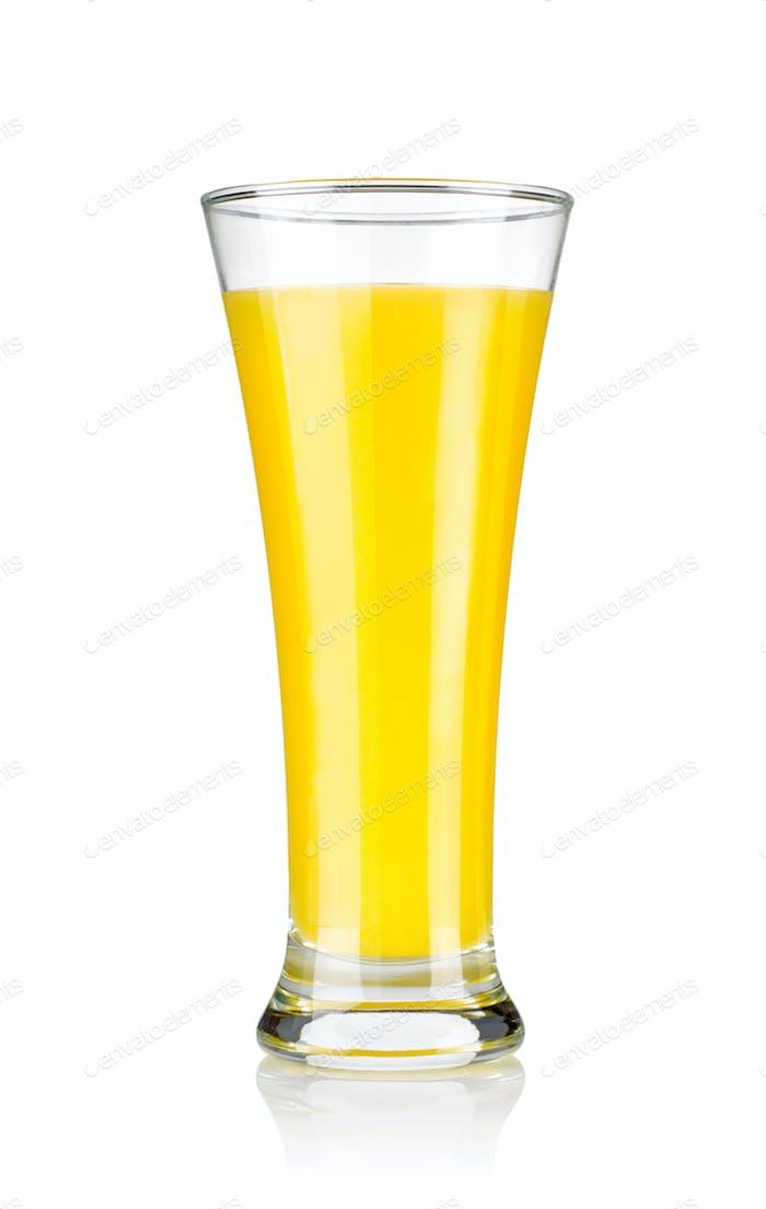 Glas frischen Orangensaft