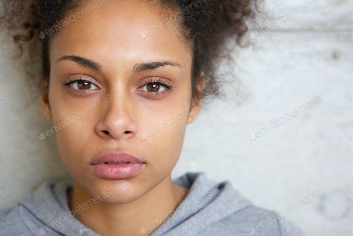 Beautiful modern mixed race woman