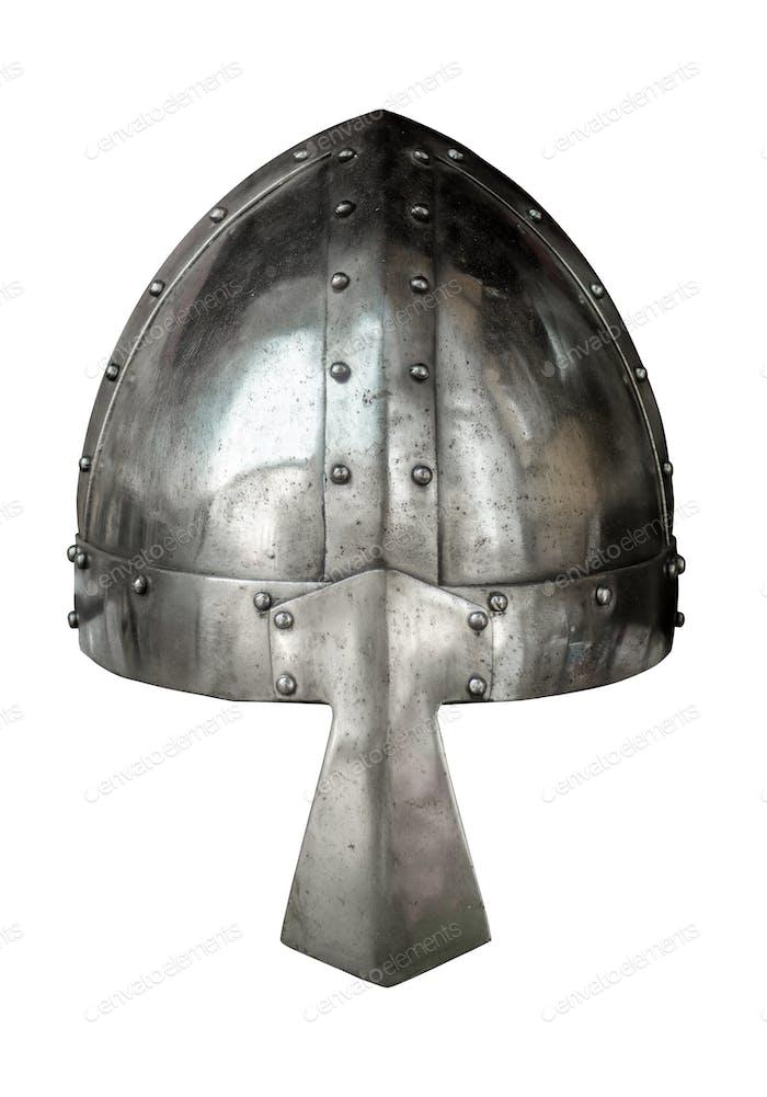 Isolated Medieval Viking Helmet