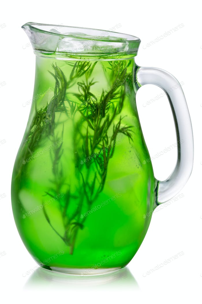 Tarragon drink iced jug, paths