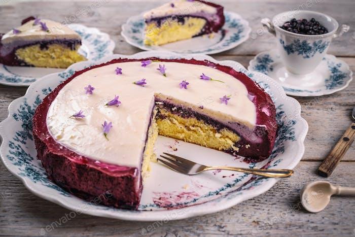 Delicious homemade sponge cake