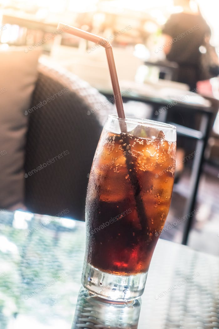 Iced cola glass