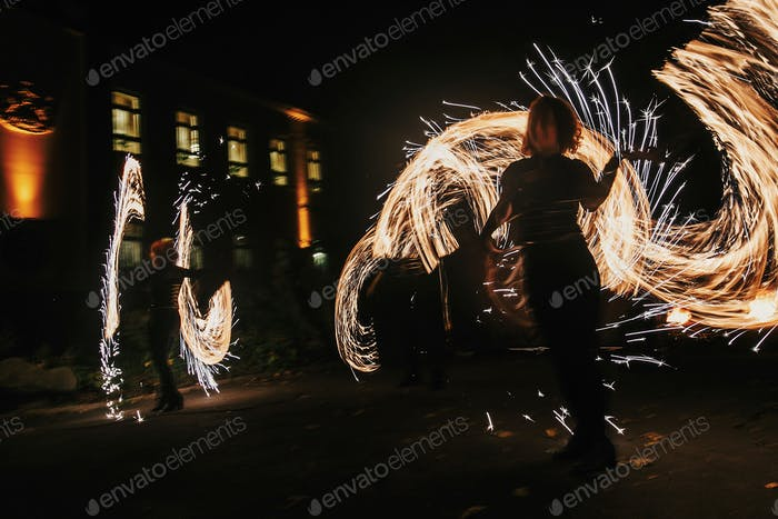 Fire show performance and entertainment
