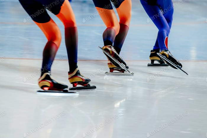 legs women athletes speed skaters