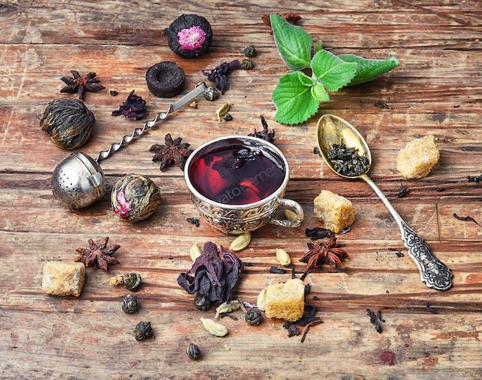 Tea and ingredients