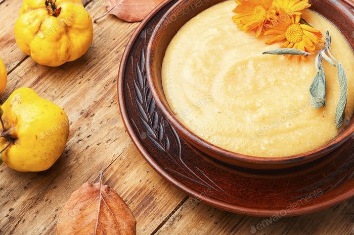 Quince puree soup.