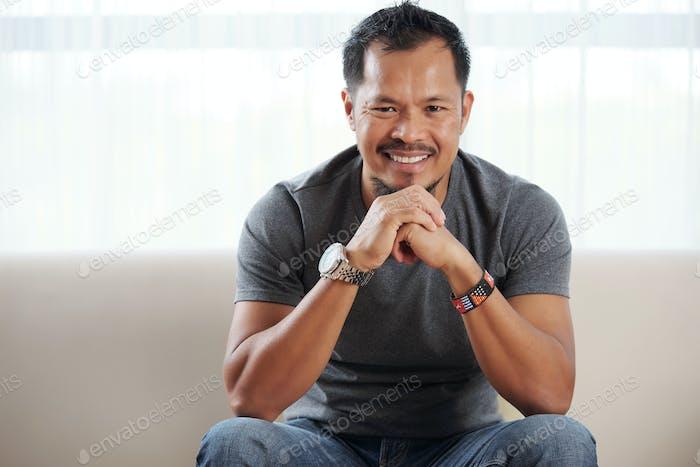 Cheerful Filipino man