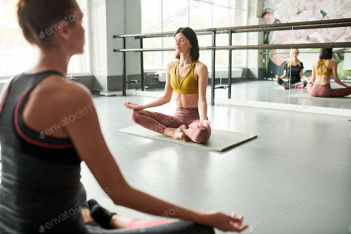 Yoga Instructor in Class