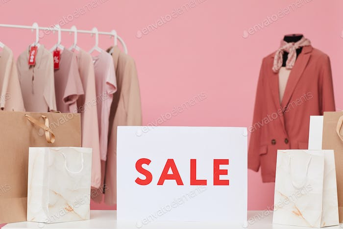 Sale in the clothes shop