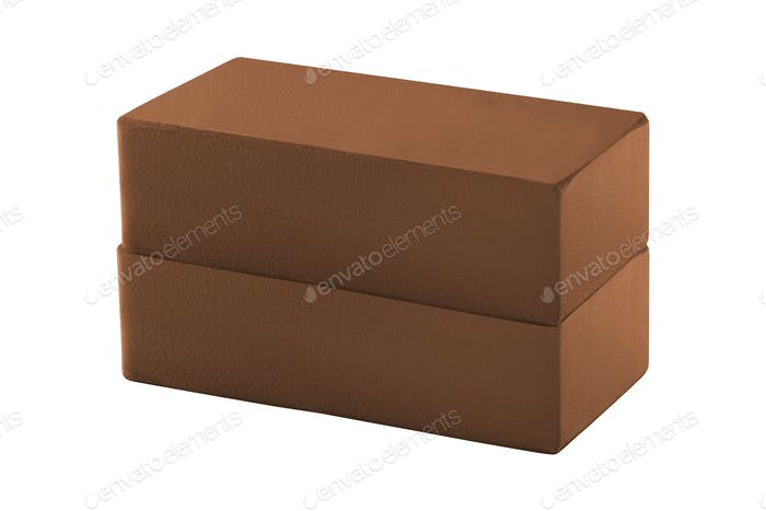 red bricks isolated on white background