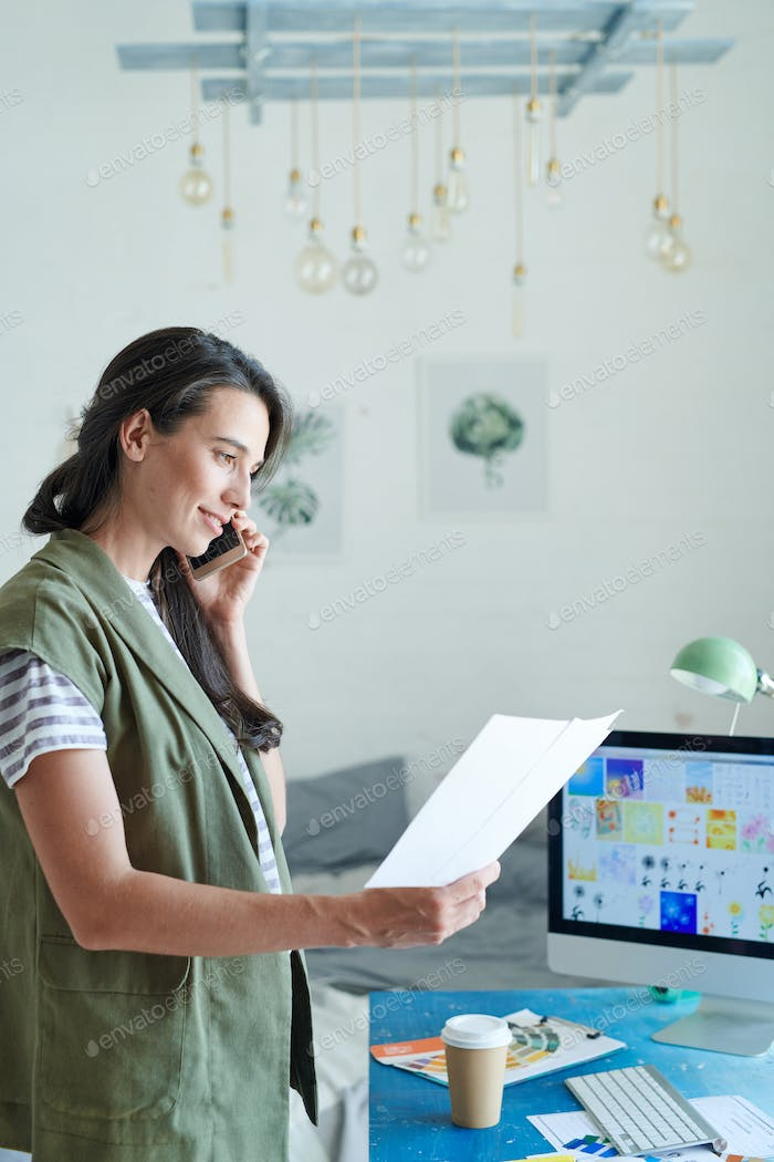 Female Manager Calling by Phone